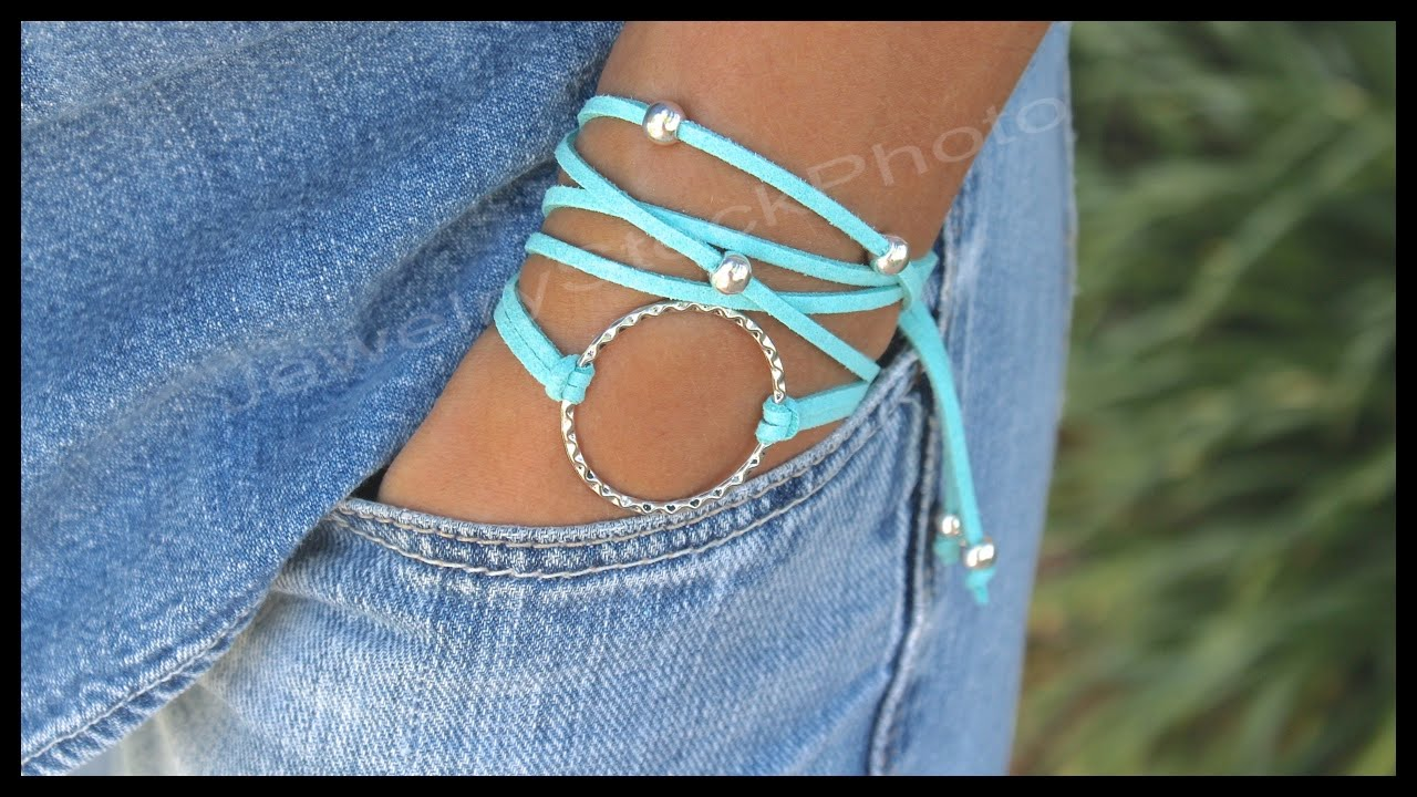 Boho Infinity Circle Charm Triple Wrap Bracelet Step By Diy Tutorial How To Size 332 You