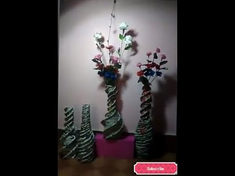 How to make a flower vase with newspaper
