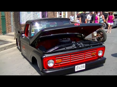 Invasion Car Show >> 1963 BAGGED FORD F100 IFS SWAP | SBF 347 Stroker Motor ...