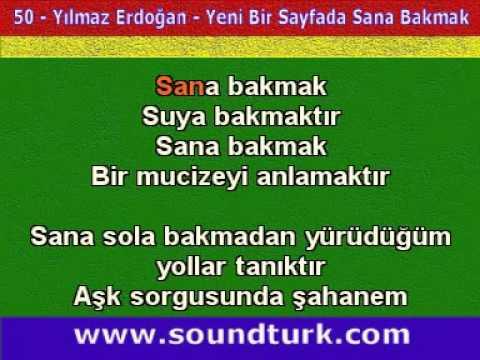 Yılmaz Erdoğan-Yeni Bir Sayfada Sana Bakmak Karaoke Fon Müziği