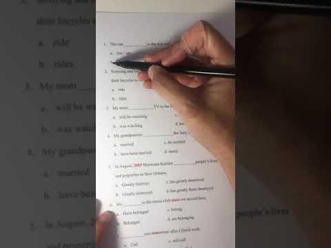 ติวสอบ Exit Exam พาร์ท Grammar มหาวิทยาลัยมหาสารคาม