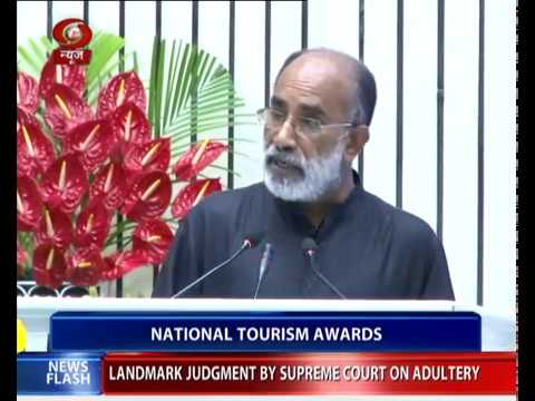 Union Tourism Minister presents National Tourism Awards
