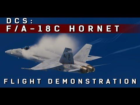 DCS: FA-18С Hornet - Flight Demonstration