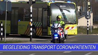 Begeleiding transport coronapatiënten | Politie | Motorondersteuning & Verkeer Noord Nederland