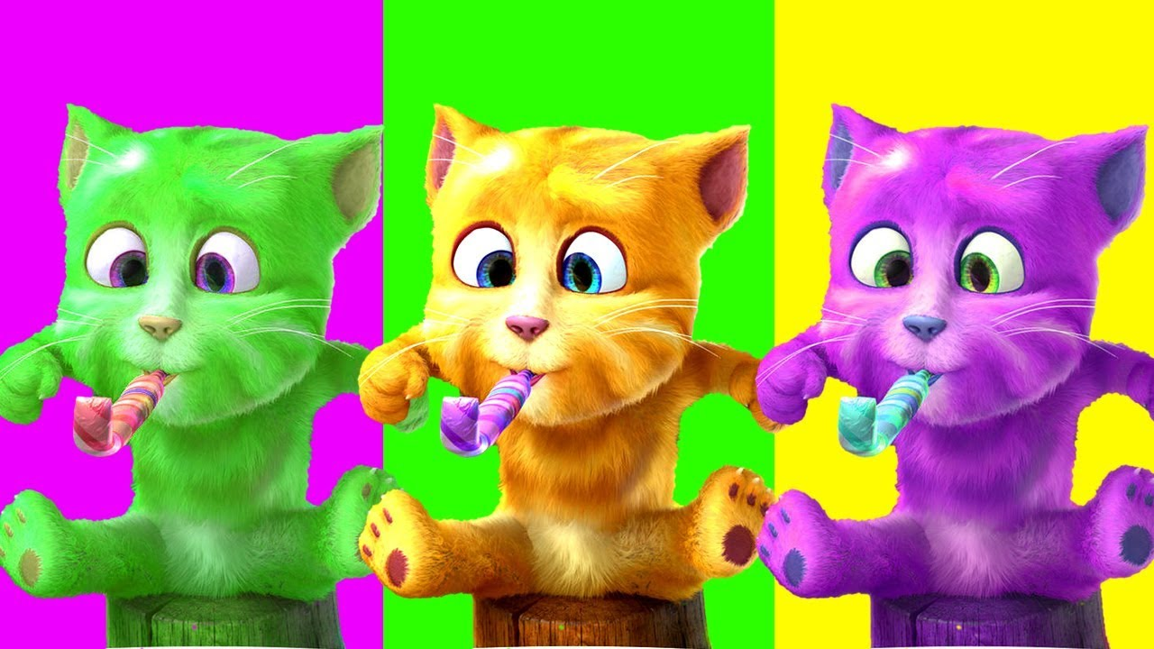 Chú Mèo Con ♫♫ Rửa Mặt Như Mèo ♫♫ Mèo Tập Thể Dục ♥ Nhạc Thiếu Nhi Vui Nhộn Sôi Động