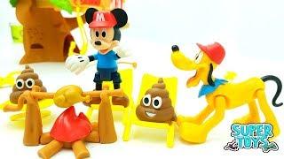 Peppa Pig George Masha e Orso e Topolino - giochi e cartoni animati per bambini - giro nel bosco!