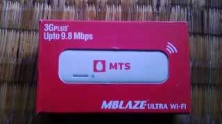 MTS Mblaze Ultra Wi-Fi (Huawei EC315) Unboxing and review
