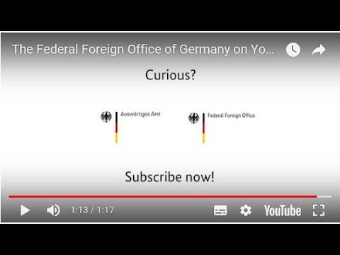 The Federal Foreign Office of Germany on YouTube