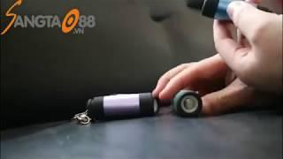 Móc khóa đèn pin sạc cổng USB