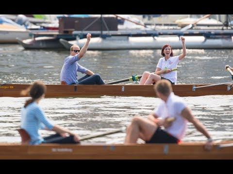 A Royal row! William and Kate face off in Heidelberg boat race