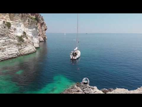 Perfect Ionian anchorage - with Nisos Yacht Charter