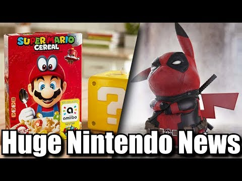 New Nintendo News Roundup - Super Mario Cereal, Zelda, Live Action Pokemon Movie, Switch