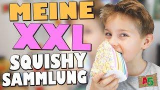 MEINE MEGA XXL SQUISHY SAMMLUNG 👦 Ash5ive 🙃 Spielzeug und Kinderkanal 😁