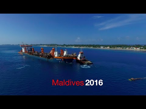 Maldives 2016 land reclamation Van Oord