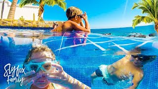 UNDERWATER POOL PARTY ON THE BEACH!!  (Slyfox Family Vacation)