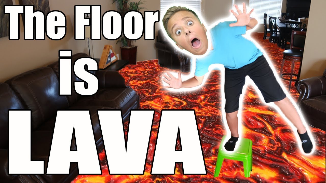 Ultamate The Floor Is Lava Challenge Real Lava Illusion