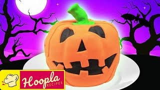 Pumpkin Cake Recipe | Trick or Treat | Happy Halloween from HooplaKidz Recipes