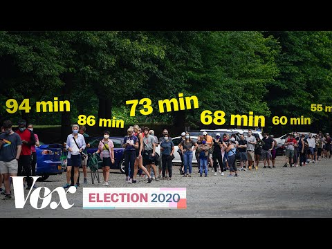 What long voting lines in the US really mean | 2020 Election