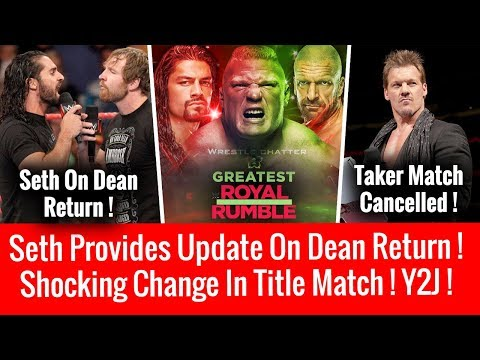 Shocking Title Match Change ! Seth Update On Dean Return ! Ziggler Final Deal ! Jericho On Taker