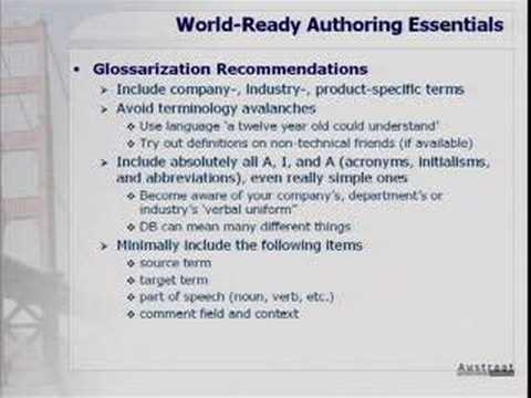 An Introduction to World Ready Authoring