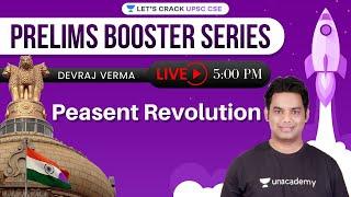 Peasent Revolution | Prelims Booster Series | UPSC CSE 2021 | Devraj Verma