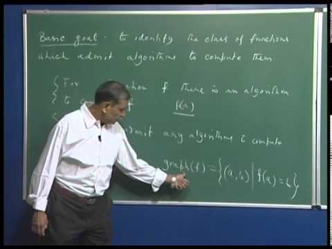 Mod-01 Lec-01 What is theory of computation?