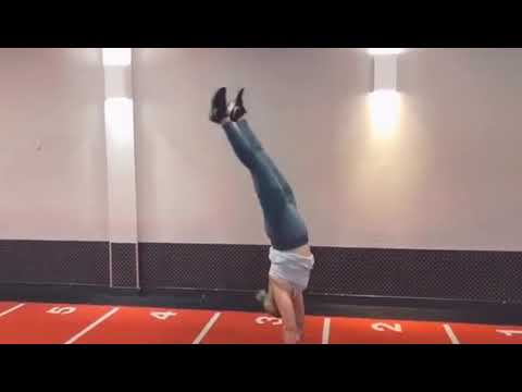 first attempt at handstand without the wall fail  youtube