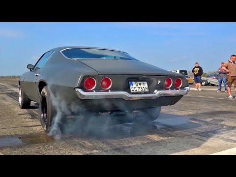 Chevrolet Camaro Z28 V8 SOUND Drag Race