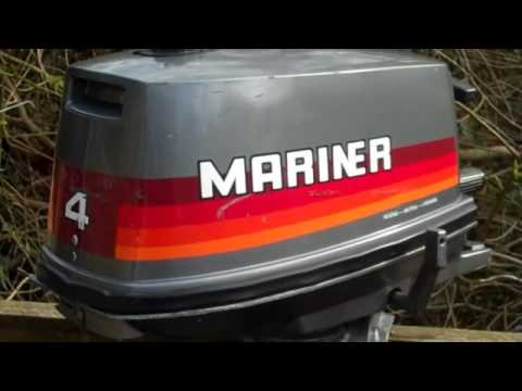mariner 4hp 2stroke outboard youtube rh youtube com Mariner Outboard Model Year Chart 1985 Mariner 50 HP Outboard