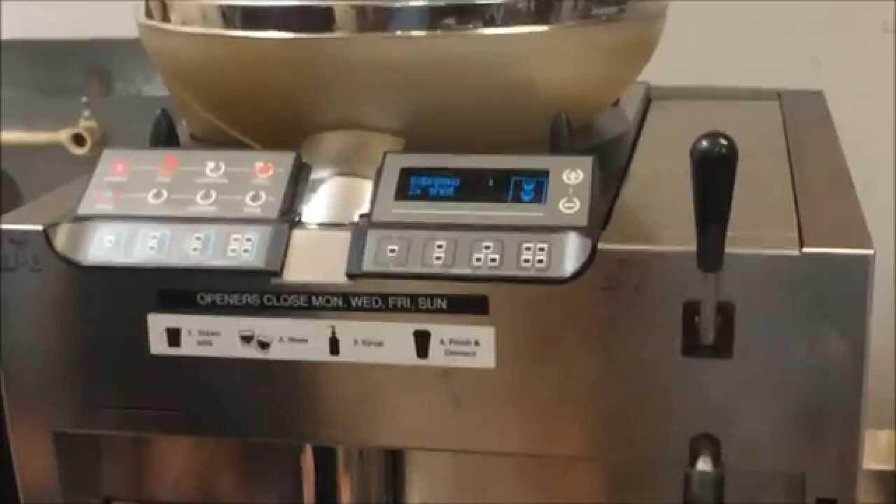 espresso machine at starbucks