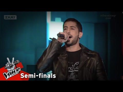Στέλιος Ιωακείμ - In the end | 1ος Ημιτελικός | The Voice of Greece