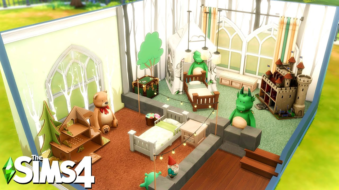 Platform Twin Toddlers Castle Bedroom: The Sims 4 Room Building #Shorts