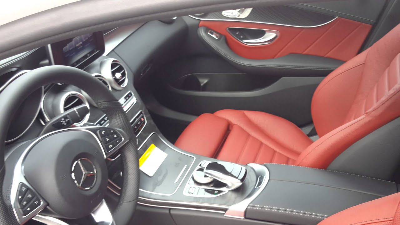 mercedes benz c300 red interior
