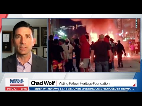 Our Leaders Cannot Tolerate Riots, Political Violence | Chad Wolf on Newsmax