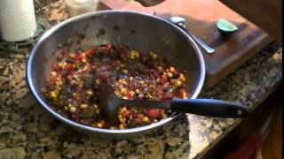 Dad Can Cook,quickie,white Corn And Black Bean Salsa
