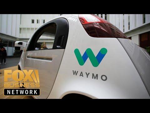 FBN's Liz Claman rides in a self-driving car with Waymo CEO John Krafcik