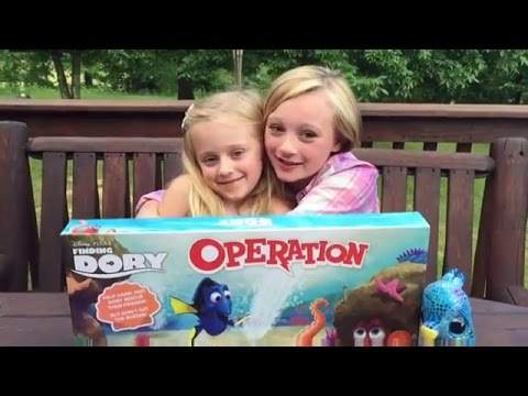 Thumbnail: Finding Dory operation Game W Princess Ella & Play Doh Girl from Fun Factory. Real baby turtles.