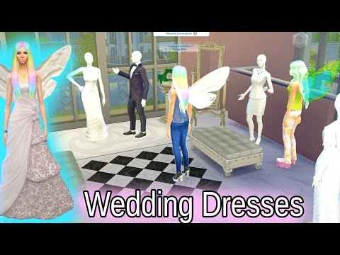 Wedding Dress Shopping - Fairy Fantasy FairyTale SIMS 4 Game Let's Play Dating Video Series Part 10