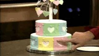 How to Make and Decorate a Heart Fireworks Tiered Cake by Wilton