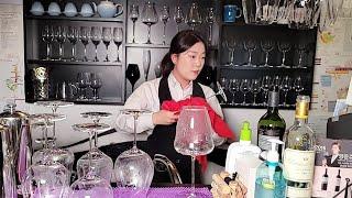 소믈리에가 하는 와인잔 설거지