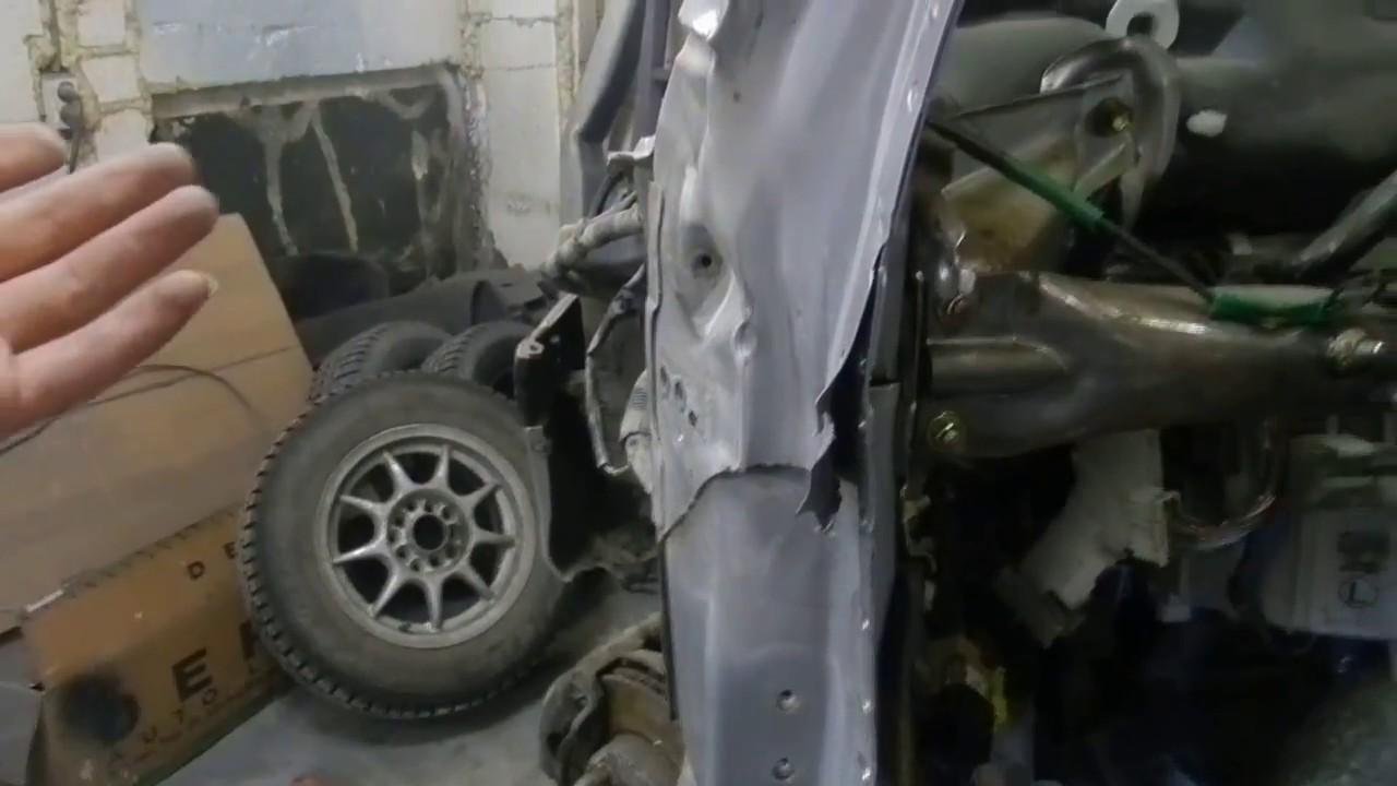 Кузовной Ремонт и Обзор Toyota Caldina. Жесть.