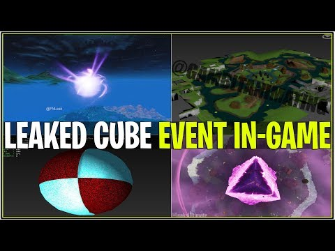 *NEW* Fortnite: CUBE EVENT LEAKED! ( Event Animations, Island Aftermath & We CAN'T DIE!)