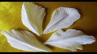 гофрировка лепестков и листьев цветов утюгом