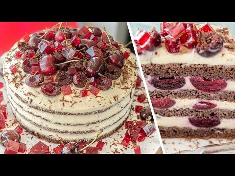 Нереально вкусный ТОРТ ЧЕРНЫЙ ЛЕС без муки | торт Шварцвальд с черешней 🍒 Black Forest Cake