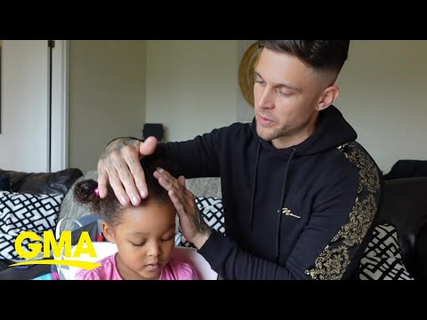 Papa doing his child's hair is too charming to view - NewsBurrow thumbnail
