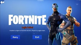 (NEW)Fortnite Login Error Fix. unable to connect to servers login error fix