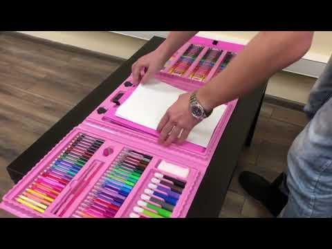 Наборы для рисования 176 предметов с мольбертом! online video cutter com