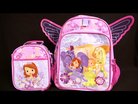 760c26514b6e Sofia the First Lunch Tote   Backpack from The Disney Store - YouTube