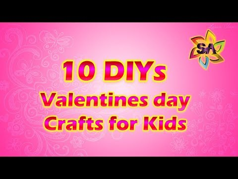 Fun and simple Valentine Crafts for children