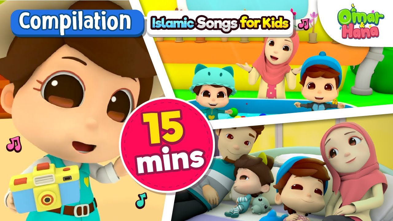 New 15 Min Compilation Omar Hana Lullabies For Muslim Babies Songs And Dua Before Sleeping